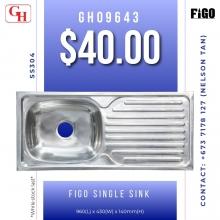 Figo single sink GH09643