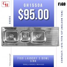 Figo laundry 3 bowl sink GH1550A