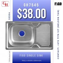 Figo single sink GH7545